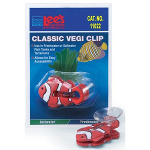 Lee's Clown Fish Vegi-Clip With Suction Cup - 1 Per Card