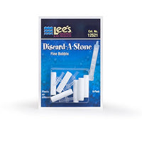 Lee's Pet Products 6-Pack Discard a Stone Disposable Air Diffuser for Aquarium Pump, Fine
