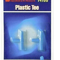 Lee's Pet Products 2-Piece Card Plastic Tee for Aquarium Pumps