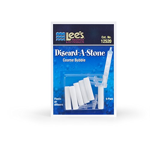 Lee's Pet Products 6-Pack Discard a Stone Disposable Air Diffuser for Aquarium Pump, Coarse