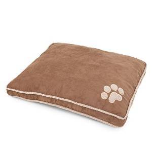 Aspen Tan Shearling Pillow Bed 36x45