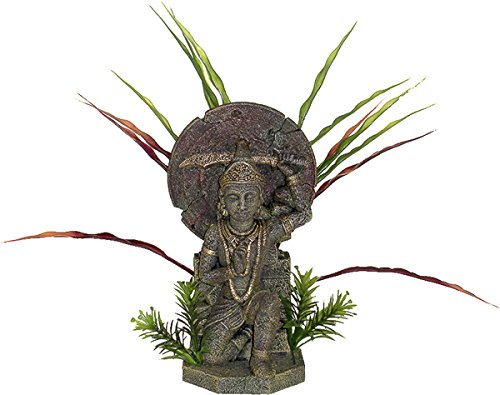 Blue Ribbon Asian Creations Buddha Warrior With Plants - Large