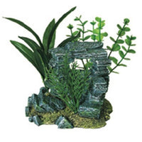 Blue Ribbon Resin Ornament - Rock Arch With Plants Small