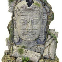 Blue Ribbon Exotic Environments Ancient Stone Head Ruin Aquarium Ornament