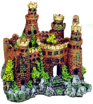 Exotic Environments Medieval Castle Aquarium Ornament 7-1/2-Inch by 5-Inch by 7-Inch