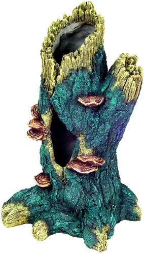 Exotic Environments Hollow Tall Tree Trunk Aquarium Ornament
