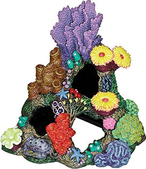 Exotic Environments Indonesian Reef Cavern Aquarium Ornament, 9-Inch by 7-Inch by 8-Inch