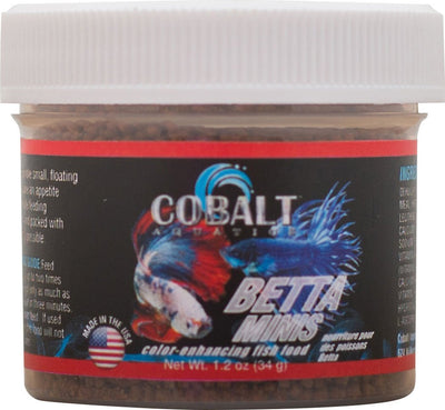 Cobalt Betta Mini Floating Pellets 1.2 oz