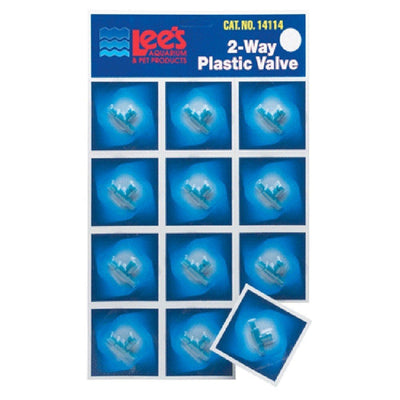 Lee's Pet Products Card Plastic Valve for Aquarium Pumps full card with 12 valves.