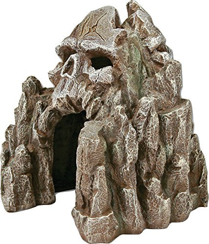 Exotic Environments Skull Mountain Aquarium Ornament Small, 5-1/2-Inch by 6-Inch by 6-Inch