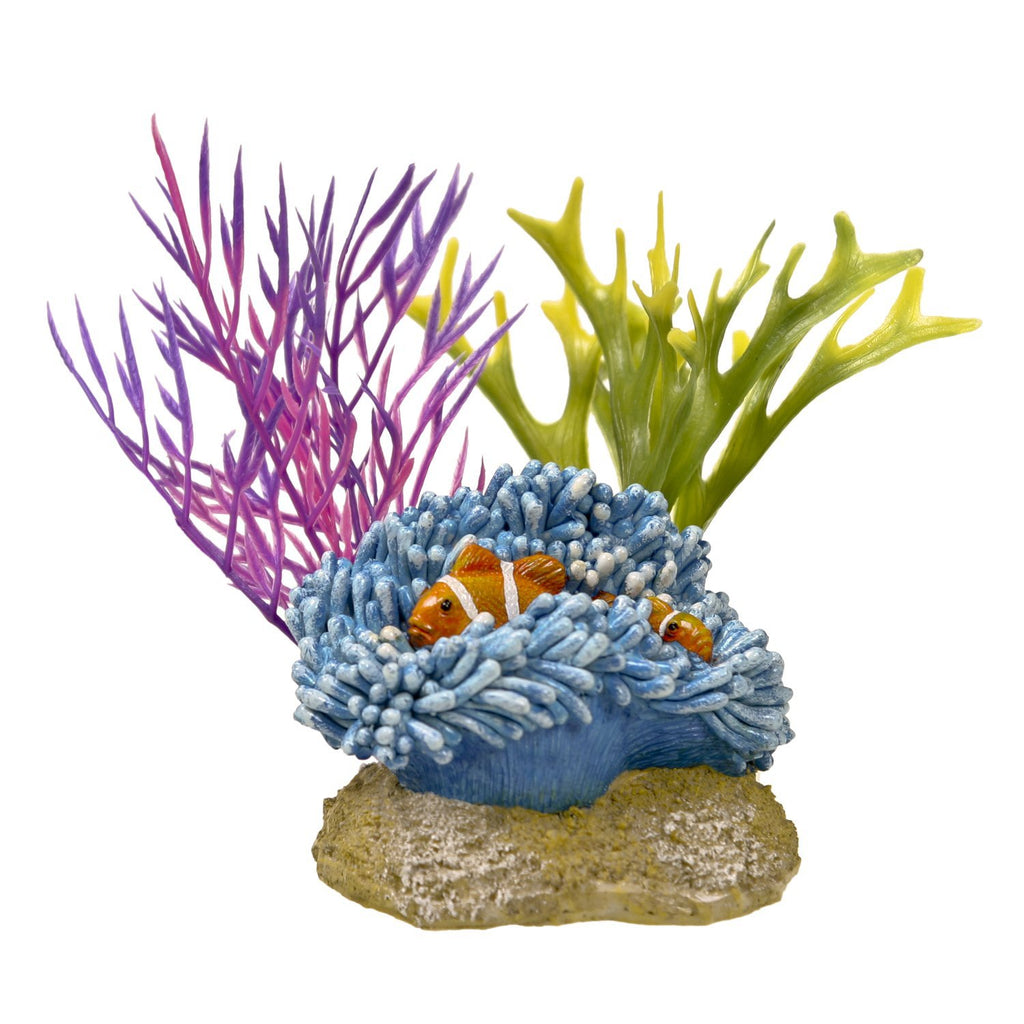 Blue Ribbon Exotic Environments Aquatic Scene with Clownfish