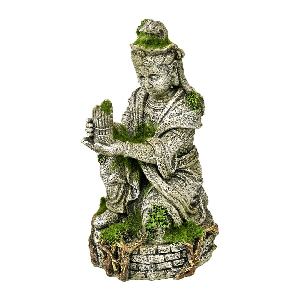 Blue Ribbon Exotic Environments Ancient Buddha Statue with Moss