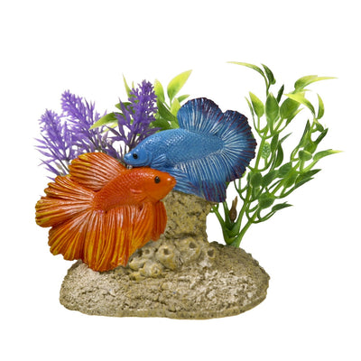 Blue Ribbon Exotic Environments Aquatic Scene with Bettas