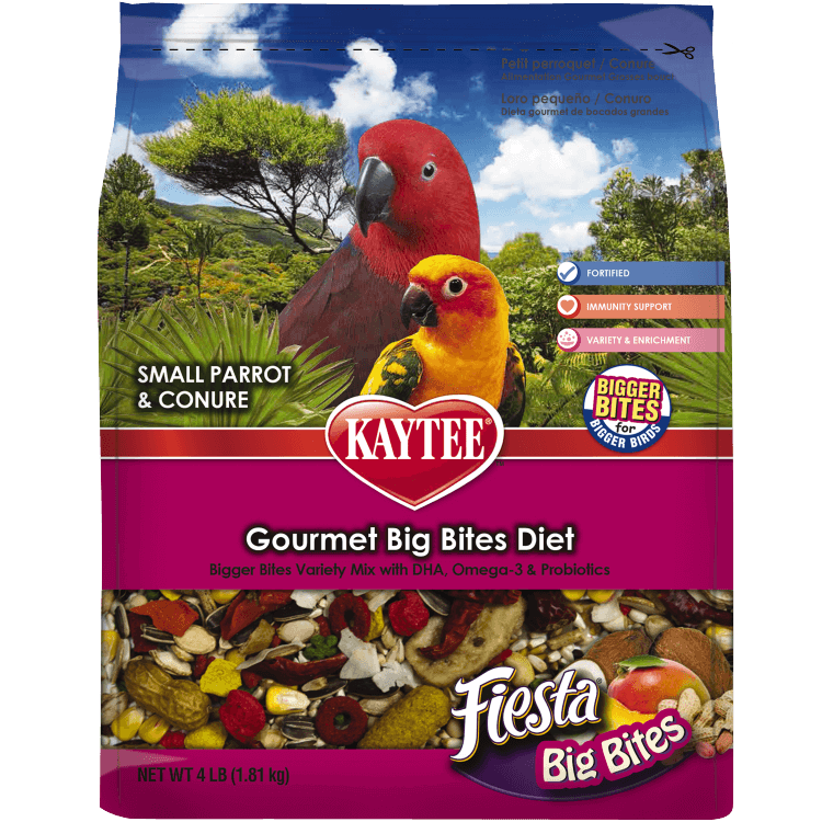 Kaytee Fiesta Big Bites Parrot and Conure Food 4 Pound