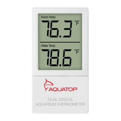 AQUATOP Ext Digital Thermometer w/ Dual Temp Display