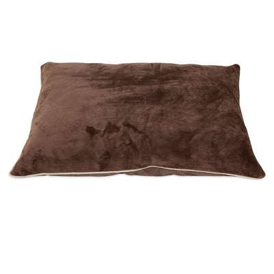 Aspen Pet 27x36 Luxe Pillow Bed Brown