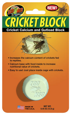 Zoo Med Cricket Block - Cricket Calcium and Gutload Block