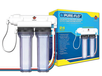 Coralife Pure Flo RO Unit 24 GPD 2 Canister