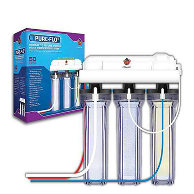 Coralife Pure Flo RO Unit 50 GPD 3 Canister