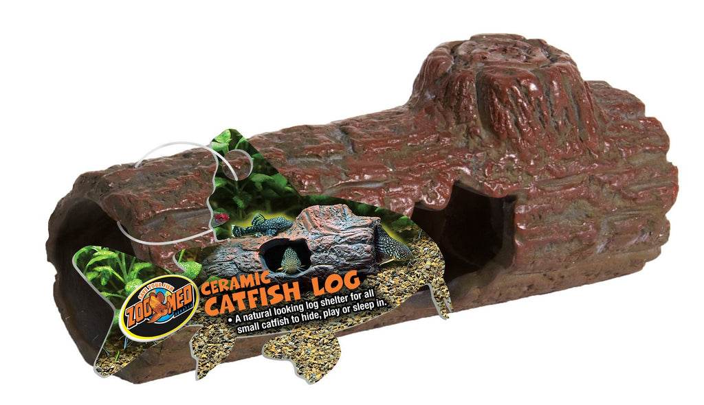 Zoo Med Sinking Ceramic Catfish Log