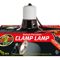 ZooMed Deluxe Porcelain Clamp Lamp Black