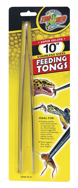 "Zoo Med 10"" Stainless steel Feeding Tongs"
