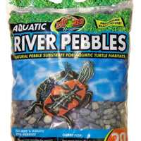 Zoo Med Aquatic River Pebbles 20 lb