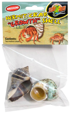 Zoo Med Hermit Crab Growth Shell Medium 2 Pk.