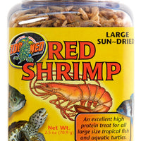Zoo Med Jumbo Sundried Red Shrimp 2.5 oz.