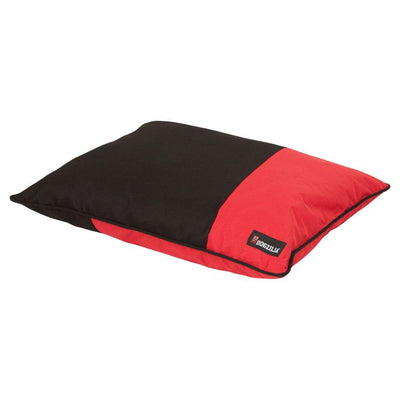Aspen Dogzilla Red/Black Pillow Bed 27x36