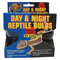 Zoo Med Day/Night Reptile Combo Pack 60 Watts