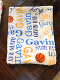 Basketball Baby Name Blanket