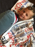 Shark Name Blanket