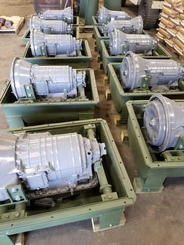 M113 Overhaul Rebuilt Transmissions With Container Ready to Ship