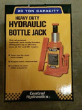 20 Ton Hydraulic Bottle Jack, Heavy Duty NEW FREE SHIPPING Central Hydraulics