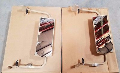 (2) Commercial TRUCK West Coast Style MIRROR Military Truck 2.5 MRAP 015420899