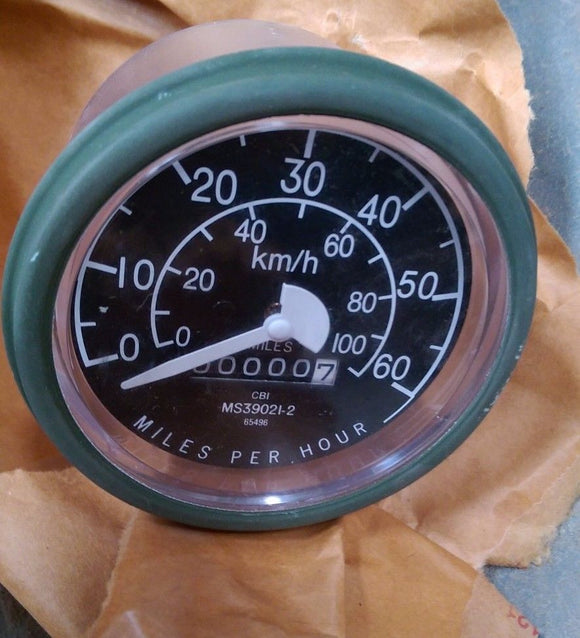 Speedometer HMMWV Jeep M151 M998 M35a2 M-Series MS39021-2 ,6680-00-933-3599 NOS
