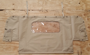 NEW HMMWV M998 4 Man TAN Soft Top REAR CURTAIN Humvee 12342475-1