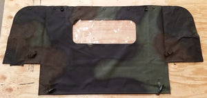 NEW HMMWV M998 4 Man Camo Soft Top REAR CURTAIN Humvee 12342475-6