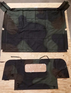 NEW HMMWV 4 Man Camo Soft Top Roof + Curtain Kit Humvee M998 12340676-31