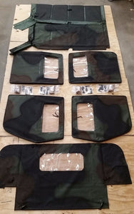 NEW HMMWV 4 Man Soft Top KIT CAMO  Humvee M998  4 Doors, C-Pillar, Bows, Rails
