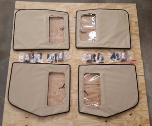NEW HMMWV 4 Man TAN Soft Top DOOR SET Humvee M998 12340231-4, 12340231-3 4 Doors