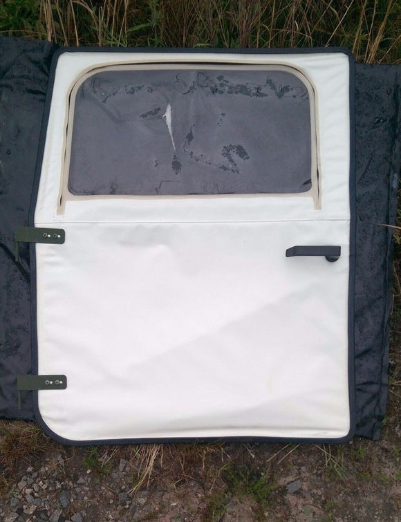 NEW M998 HMMWV Humvee FRONT DRIVER SIDE DOOR Soft Top Arctic WHITE 12340231-1