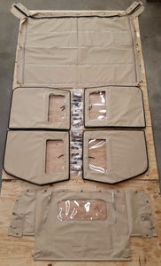 HMMWV 4 Man Soft Top KIT TAN Humvee M998 4 Doors C-Pillar, Bows, Rails, 57K0155