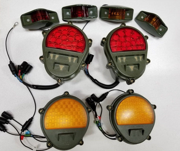 NEW LED HMMWV CONVERSION LIGHT KIT BRAKE TURN SIGNAL SIDE MARKER M998 HUMVEE