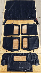 NEW HMMWV 4 Man Soft Top KIT BLACK  Humvee M998  4 Doors, C-Pillar, Bows, Rails