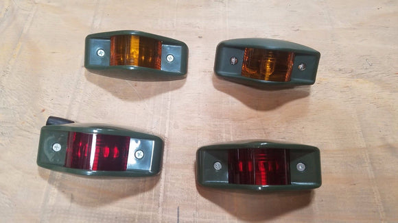 HMMWV M998 Humvee LED SIDE MARKER KIT Red, Amber Military Truck 24V FRONT M35A2