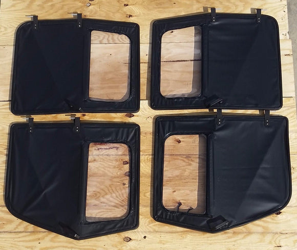 NEW HMMWV 4Man BLACK M998 Set of 4 Soft Doors