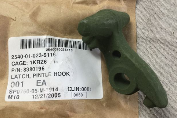 HMMWV M998 M35a2 5 Ton 2.5 Ton Pintle Latch Hook for Pintle Assembly 8380196