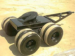 Fifth Wheel Dolly Converter Tandem Axle Dolly 4 Wheels W/ Tongue